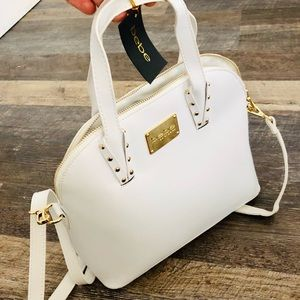 💎NWT Bebe white clairee dome purse shoulder bag